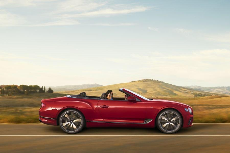 side of bentley continental gt v8 convertible