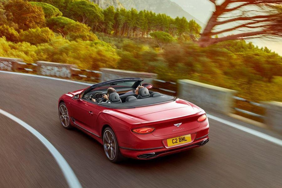back of bentley continental gt v8 convertible