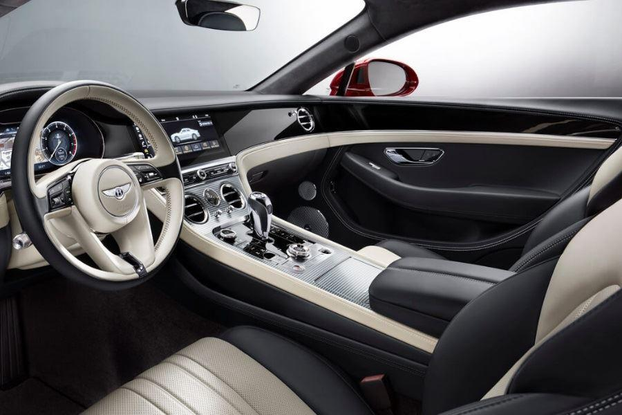 inside of bentley continental gt v8 convertible