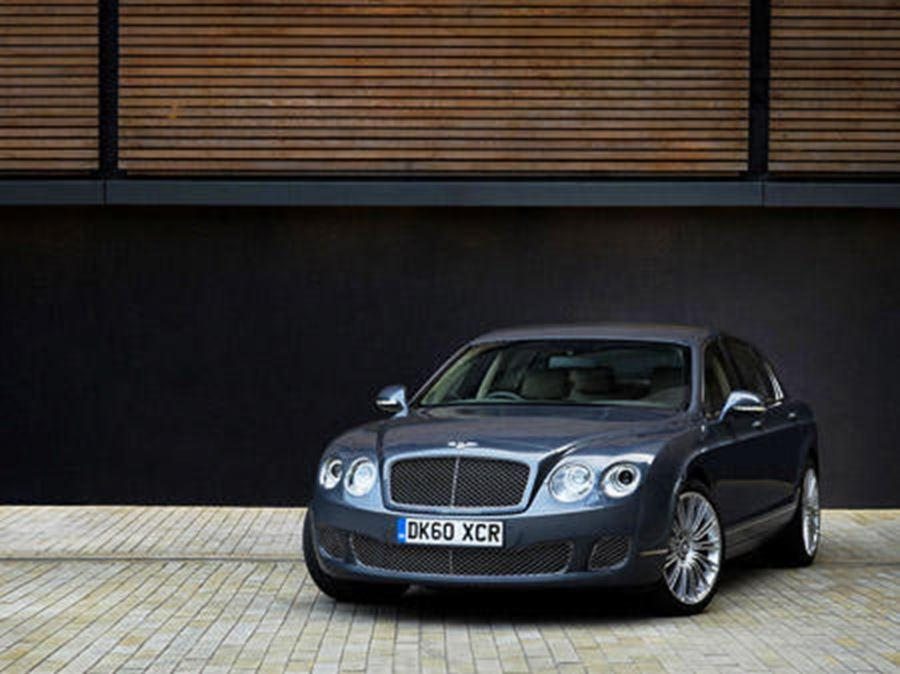 infront of bentley continental flying spur