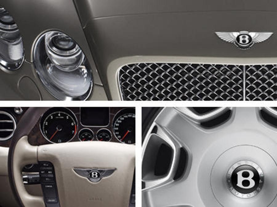 steering wheel of bentley continental flying spur