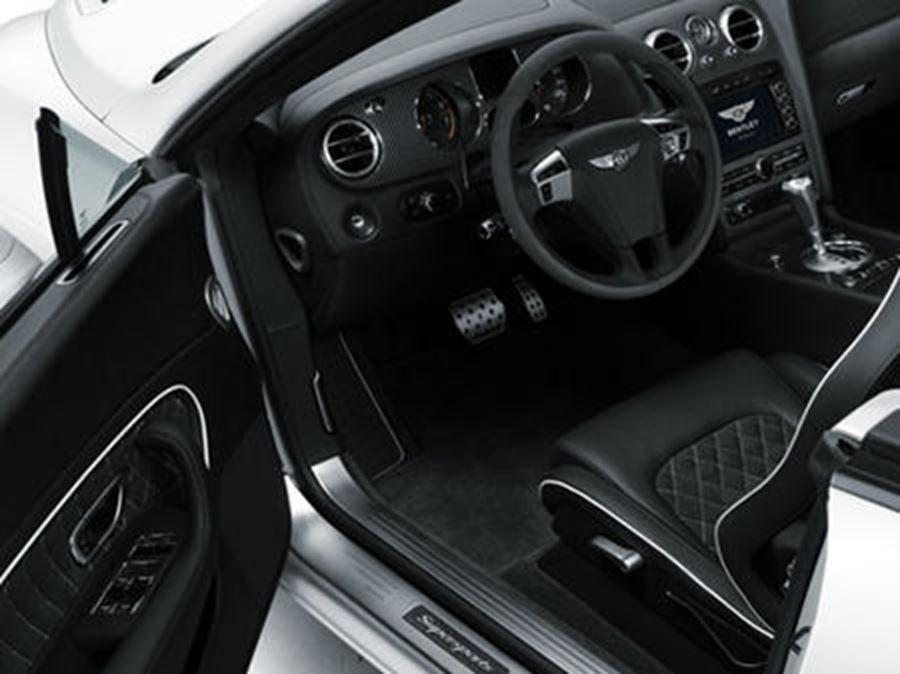 inside of bentley continental supersports