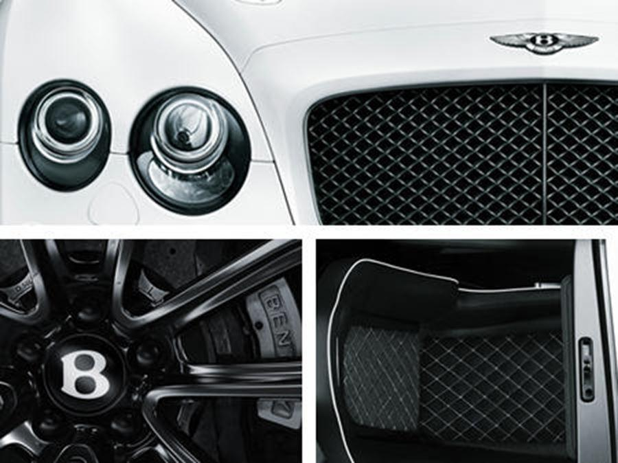 close up of bentley front and alloy