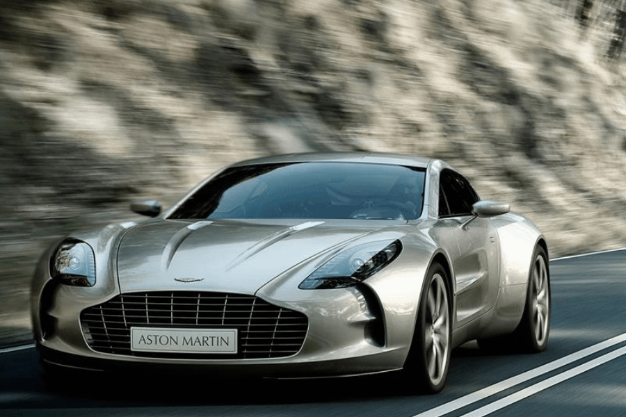 front of aston martin one 77