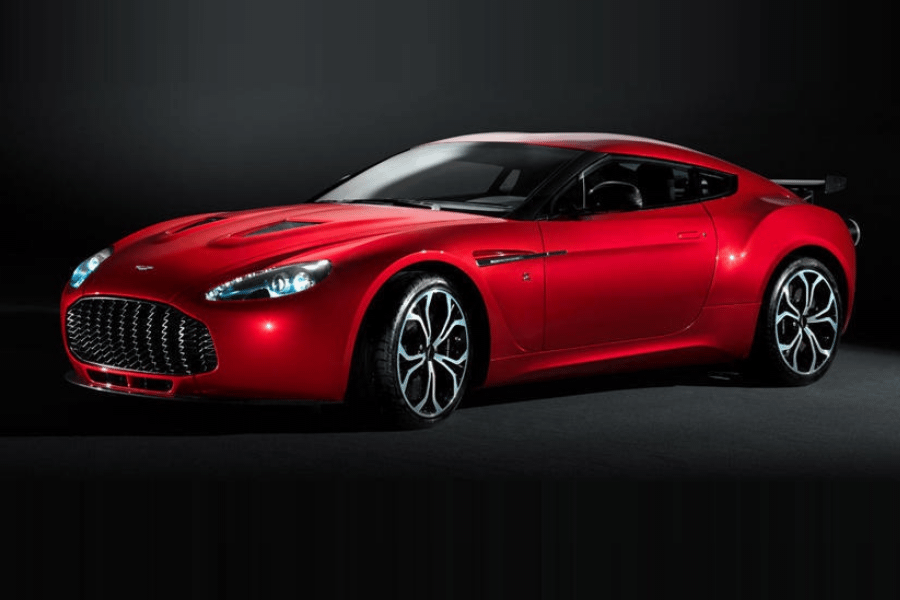 side of aston martin v12 zagato