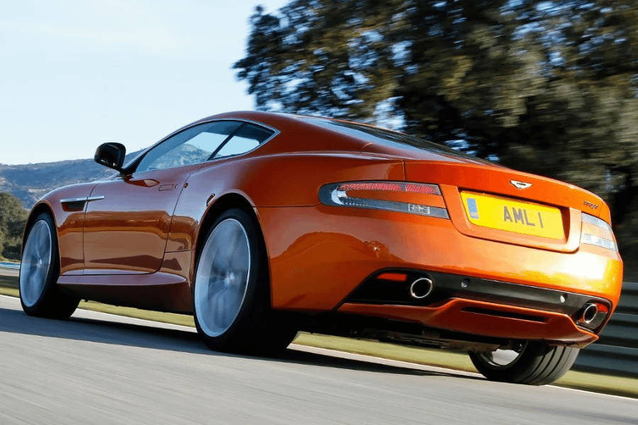 back of aston martin virage coupe