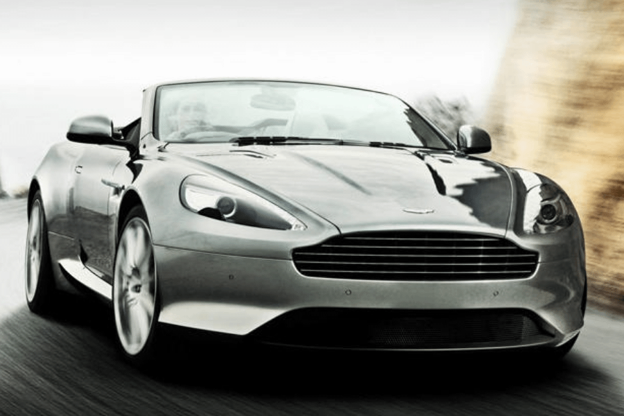front of aston martin virage volante
