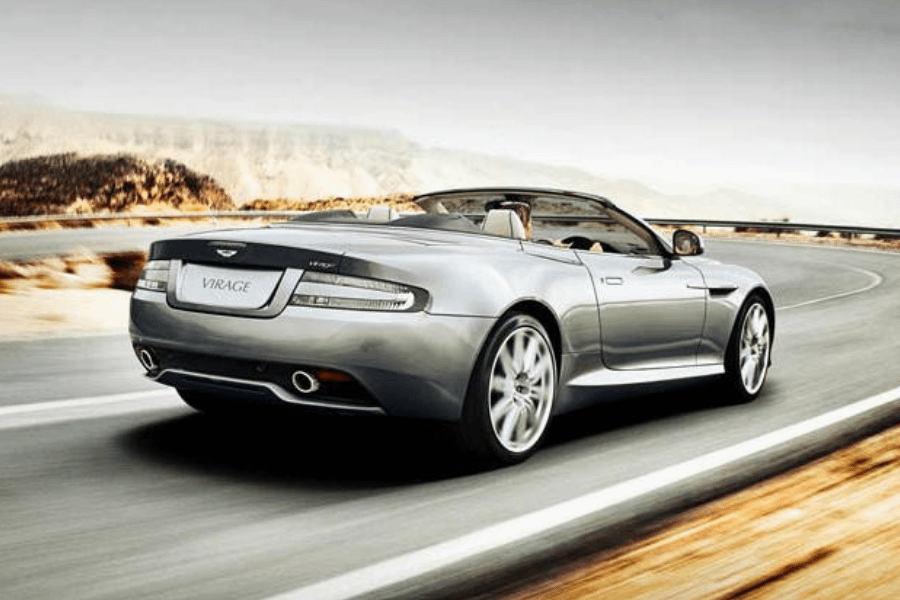 back of aston martin virage volante