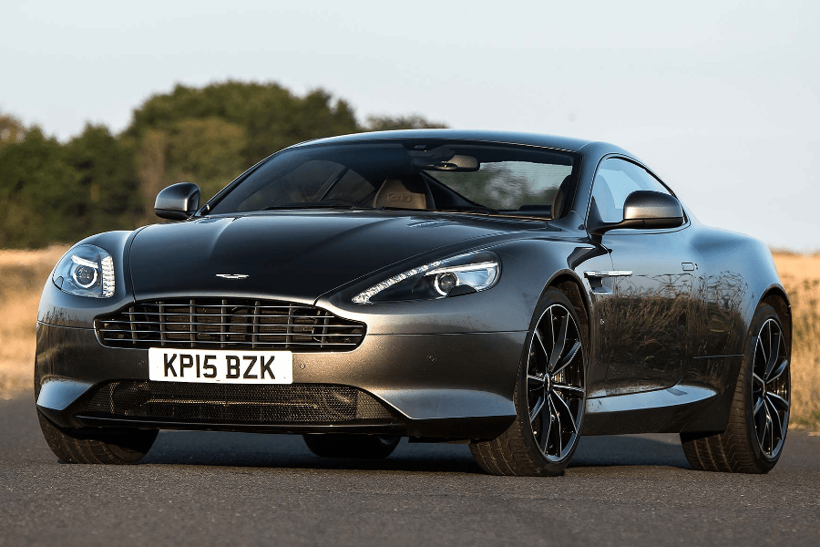 front of aston martin db9 gt gal