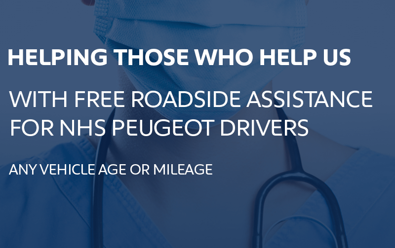 Free roadside assistance for NHS Peugeot drivers