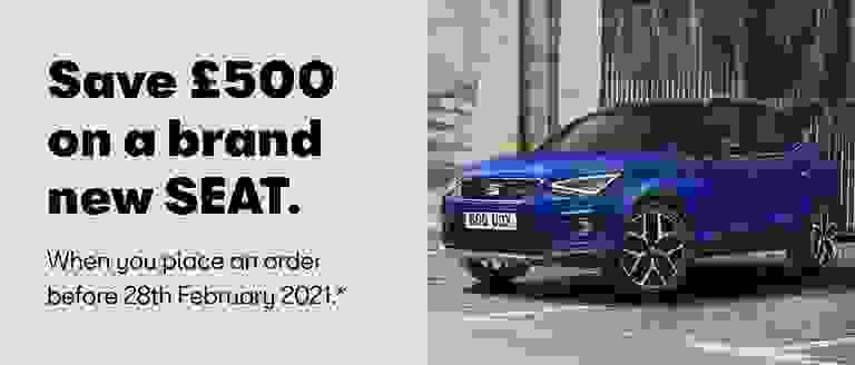 Save £500 on a brand new SEAT