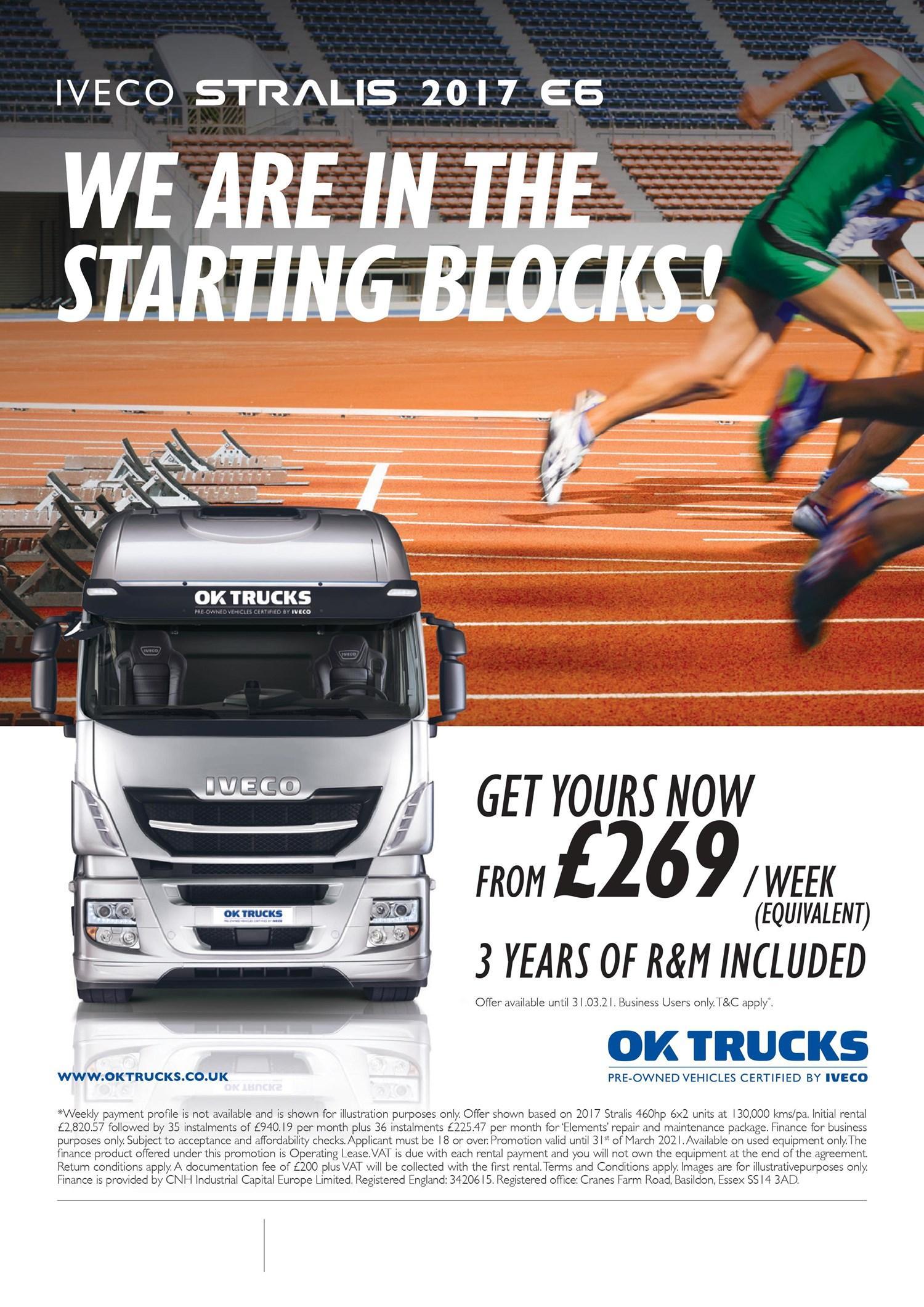 IVECO OK Trucks £269 campaign