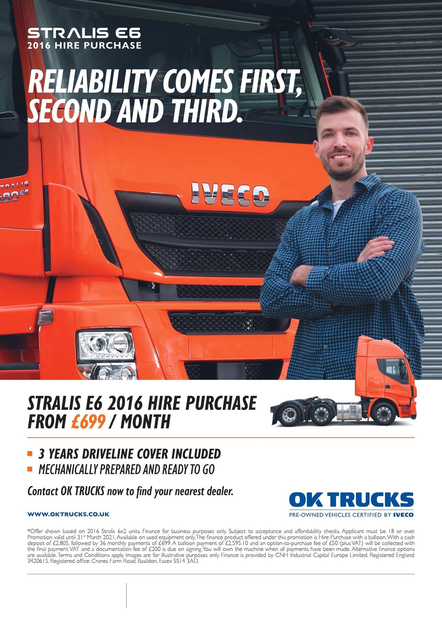 OK Trucks £699 Hire Purchase