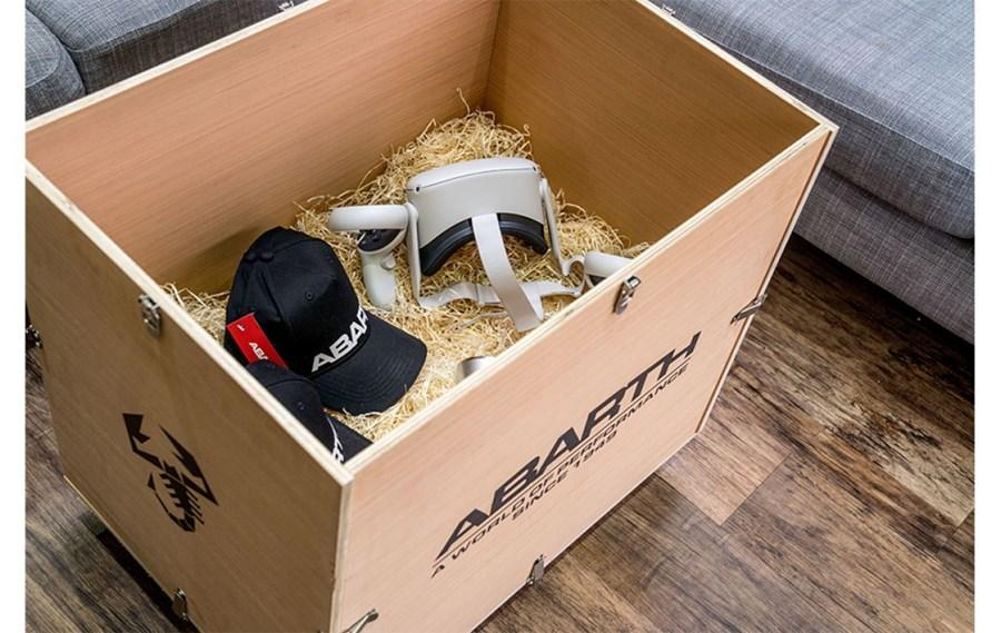 ABARTH LAUNCHES WORLD'S FIRST VIRTUAL REALITY TEST DRIVE DELIVERED TO HOMES