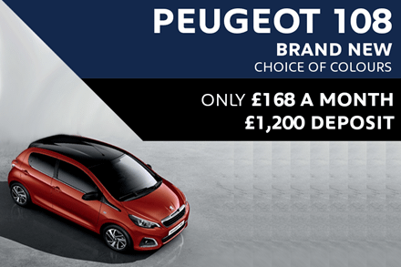 Peugeot 108 - Only £168 A Month With £1,200 Deposit