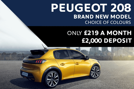 All-New High Spec Peugeot 208 For £219 A Month