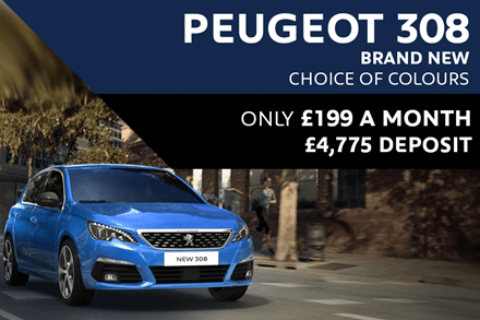 Peugeot 308 - Only £199 A Month With £4,775 Deposit