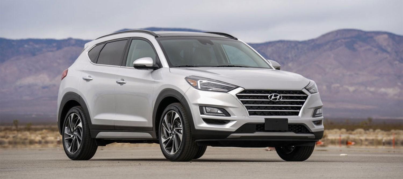 Silver Hyundai Tucson (2019 model)