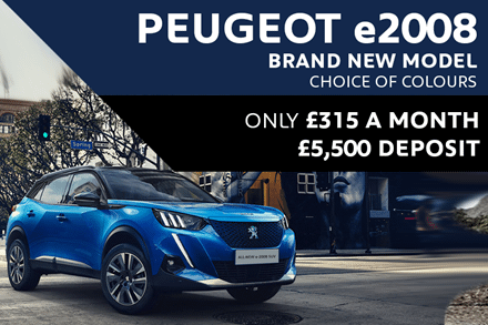 All-New Peugeot e2008 SUV - Only £315 A Month