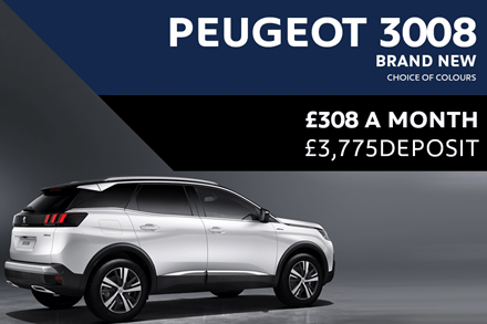 Peugeot 3008 SUV - Only £308 A Month With £3,775 Deposit
