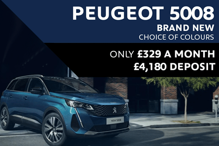 Peugeot 5008 SUV - Only £346 A Month With A £1,999 Deposit