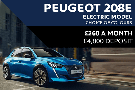 All-New Peugeot e208 From £268 A Month