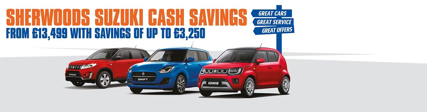 Cash Saving Offer suzuki