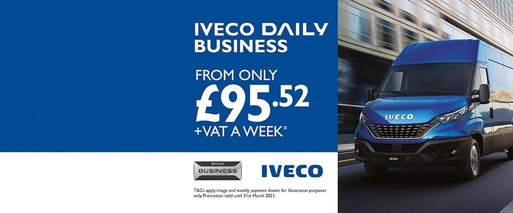 Iveco New Daily Business From £92.52 +VAT a week
