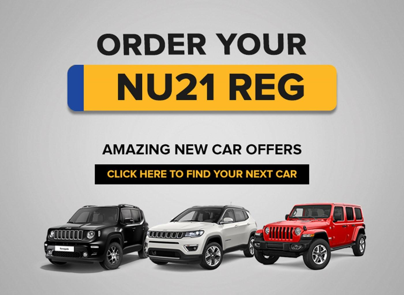 Order Your New 21 Reg with Ancaster Jeep