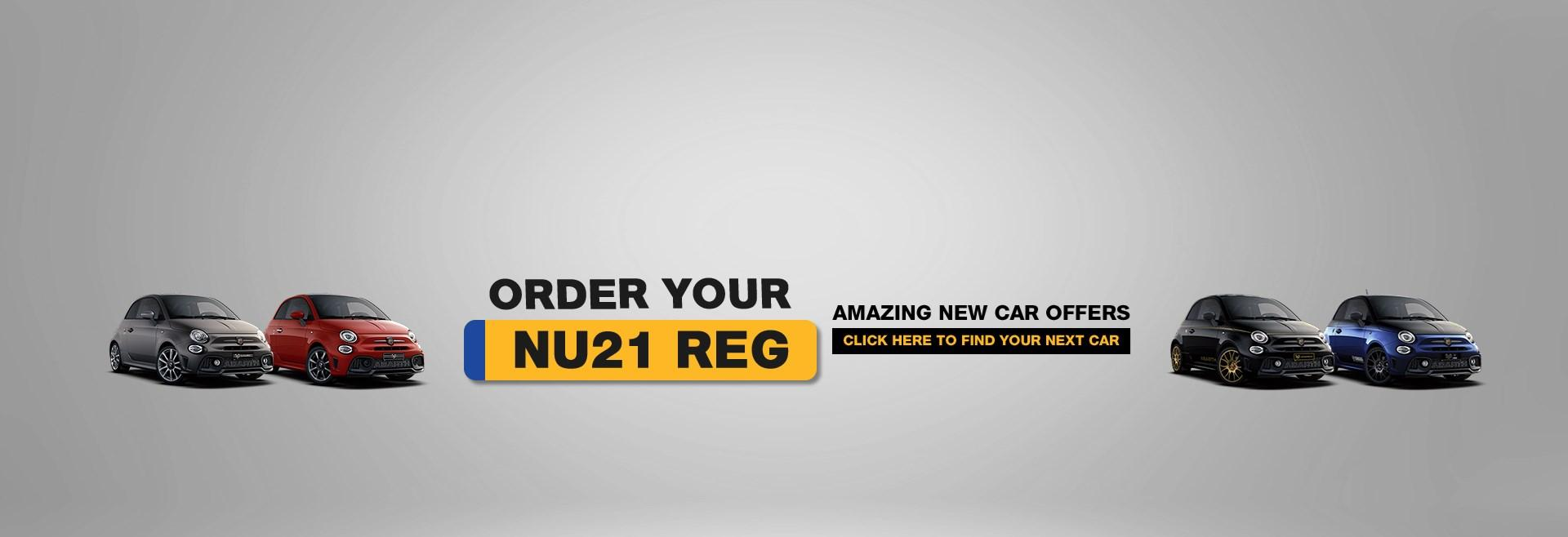 Order Your New 21 Reg with Ancaster Abarth