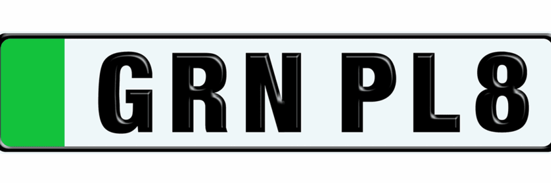Green licence plates make their debut in the UK