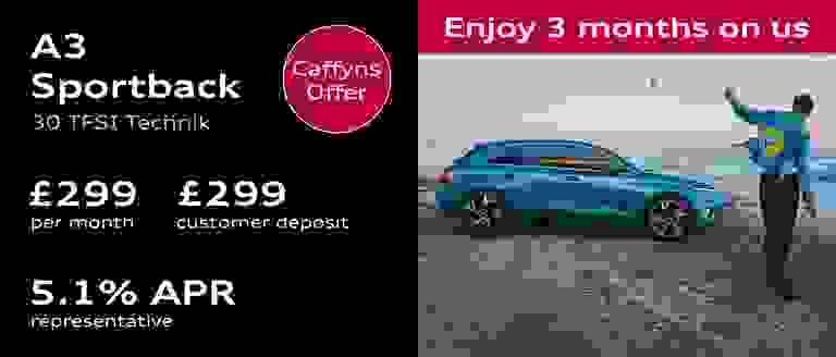Caffyns Offer - Audi A3 Sportback Finance Offer