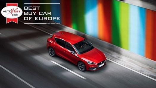 The new SEAT Leon wins prestigious 'best buy' award.