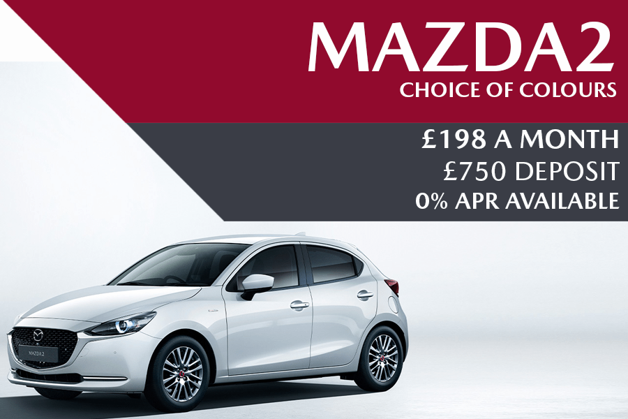 Mazda2 - Now £198 A Month With £750 Deposit And 0% Finance Available