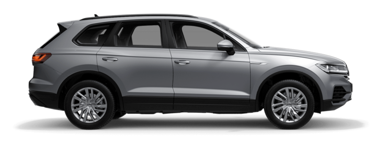 Silver VW Touareg