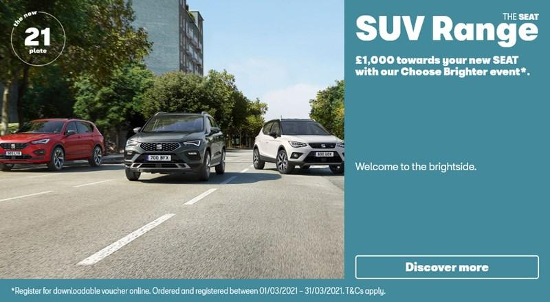 SEAT SUV range with £1000 off