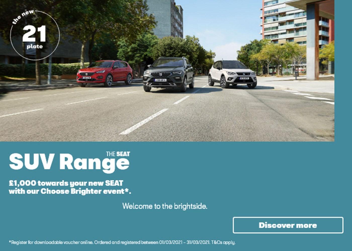 SEAT SUV Range Event Offer