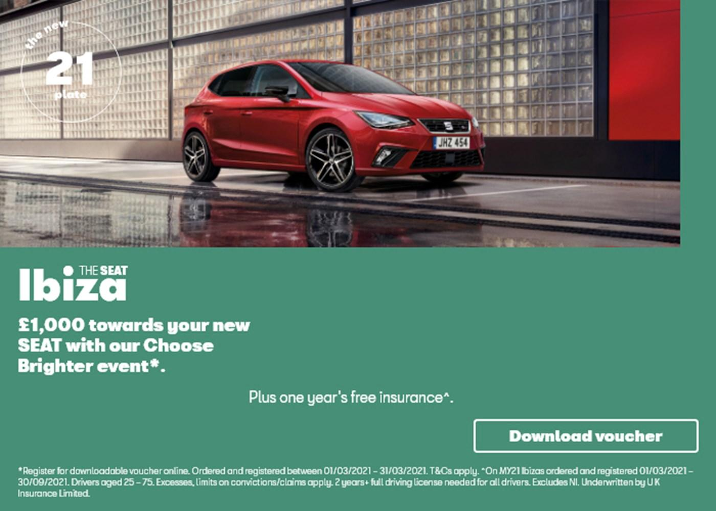 SEAT Ibiza with offer