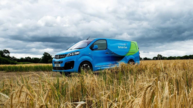 Blue Vauxhall Vivaro-e British Gas Van