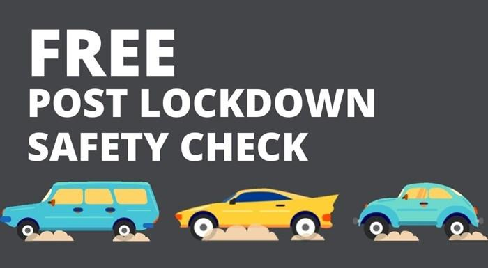 Free Post Lockdown Vehicle Safety Check