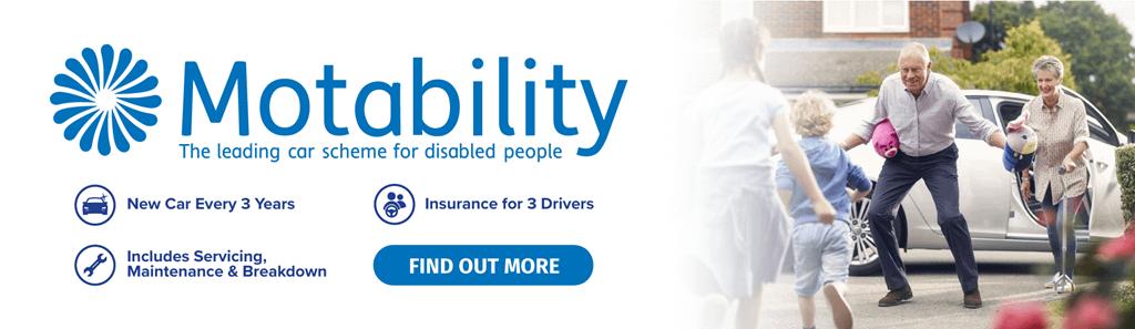 Motability Homepage Banner