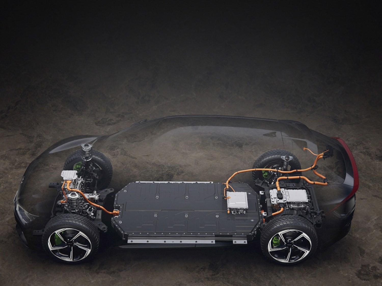 EV6 battery unit in the car