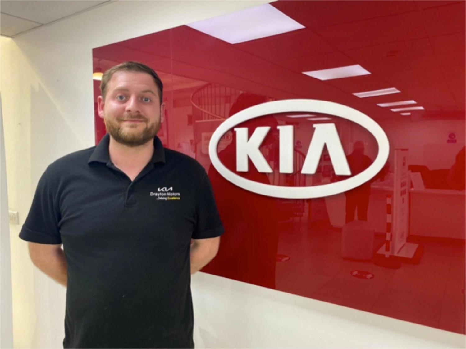 George in the Kia Showroom