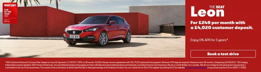 New SEAT Leon Solutions PCP Offer