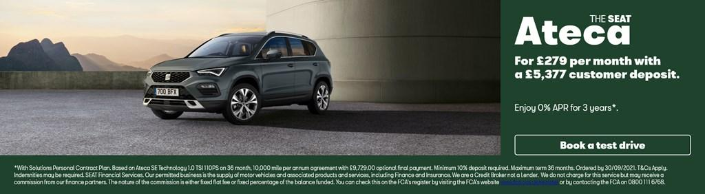 New SEAT Ateca Solutions PCP Offer