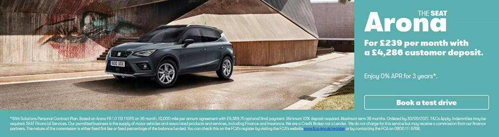 New SEAT Arona Solutions PCP Offer