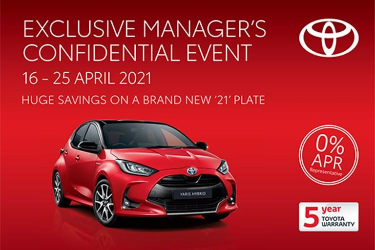 Exclusive Manager's Confidential Event