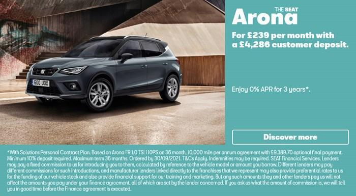 SEAT Arona with 0% APR