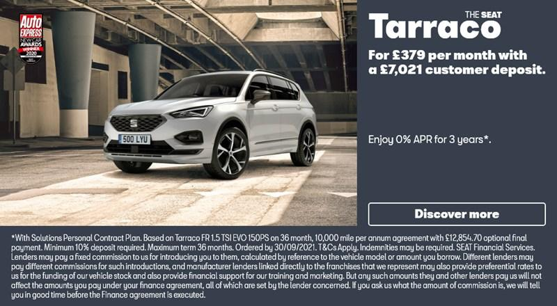 SEAT Tarraco with 0% APR