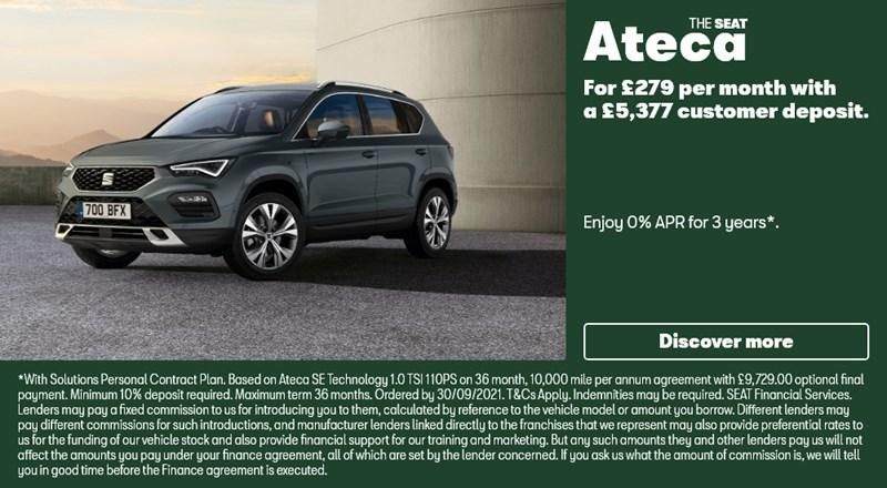 SEAT Ateca with 0% APR